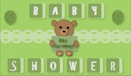 unisex: Unisex Baby with Teddy Bear Illustration