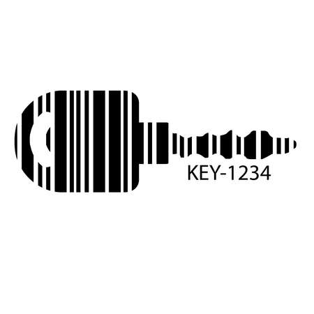 Barcode set the shape to the key, concept of successful in business. Stock Vector - 104232673