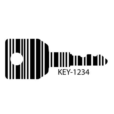 Barcode set the shape to the key, concept of successful in business. Archivio Fotografico - 104232674
