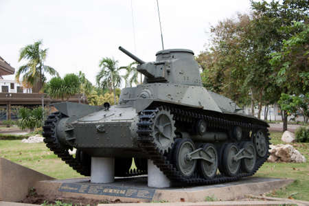 Lam Luk Ka, Pathumthani,Thailand November 5, 2017: Decommission tank of Thai Army place outdoor at National Memorial to commemorate next Generation. Light tank, Type 83 HA-GO. Redakční