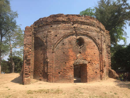 The Ruins of Ancient Portuguese Church at Syriam Myanmar, Construction of Immaculate conception catholic church have begun in 1749.