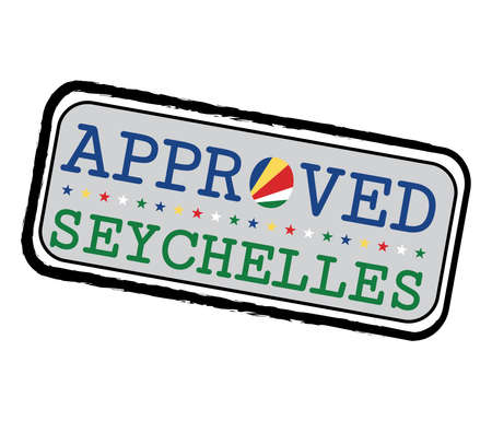 Vector stamp of welcome to Seychelles with map outline of the nation in center. Grunge Rubber Texture Stamp of welcome to Seychelles. 일러스트
