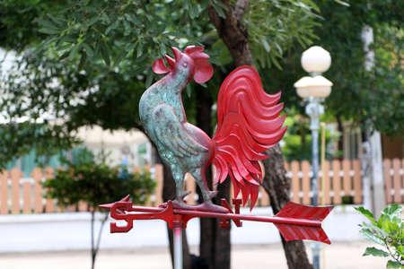 veleta de gallo con flecha y veleta. Utiliza teorías aerodinámicas avanzadas probadas bajo viento fluctuante.