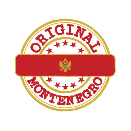 Vector Stamp of Original logo and Tying in the middle with Montenegro flag.