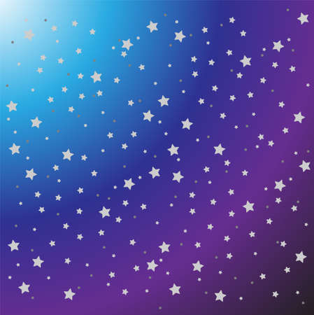 Pattern of white star on guardian background of violet to blue and white color.