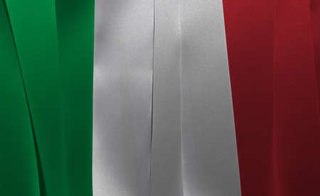 Colorful ribbon as Italy national flag, a vertical tricolor of green white and red. Imagens