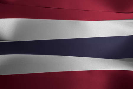 Colorful ribbon as Thailand national flag, blue red and white color.