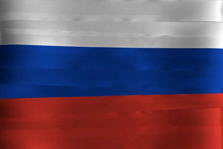 Colorful ribbon as Russia national flag, It a tricolor flag consisting of three equal horizontal fields: white blue and red.