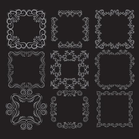 Vintage frames and scroll elements 向量圖像