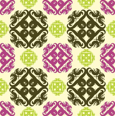 シームレスな抽象花模様、マンダラ パターン  イラスト・ベクター素材