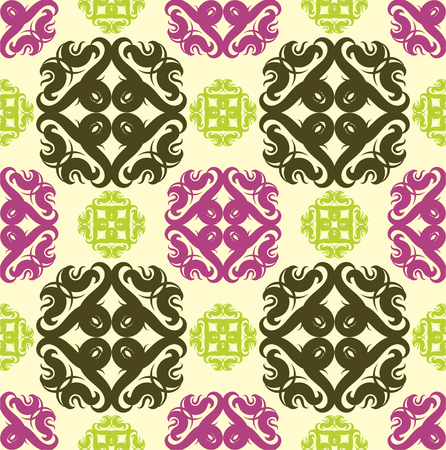 Seamless abstract floral pattern,mandala pattern Ilustrace