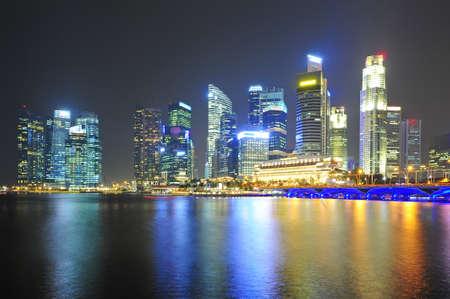 Beautiful viewpoint city of Marina Bay Sands photo