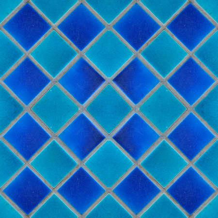 Blue mosaic tiles texture for graphic Design. Imagens