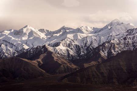 Snow Mountain with Blue Sky from Leh Ladakh India. Stock fotó