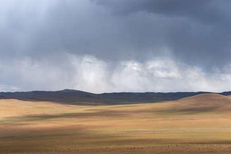 Global warming make arid landscape on the earth.