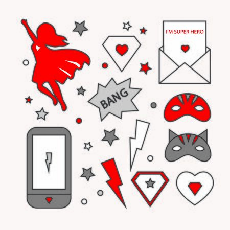 Superhero woman design template. icon super woman
