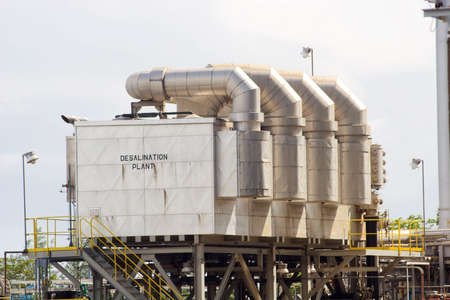 A desalination plant unit within a power generation facility photo