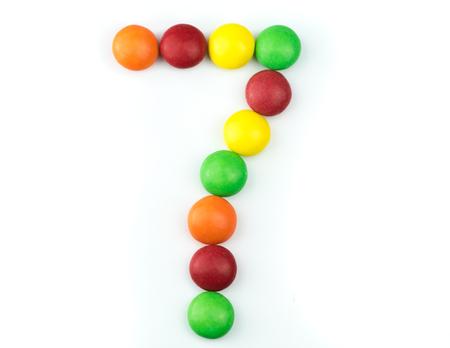 キャンディーから作られたナンバー7