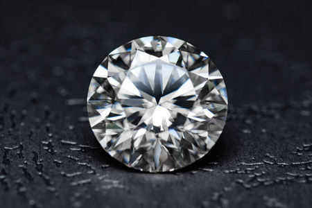 The large diamond close up Stock Photo