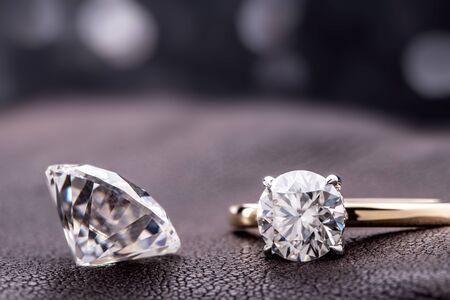Engagement Ring With Big Carat Diamond