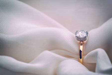 Yellow Gold Engagement Diamond Ring