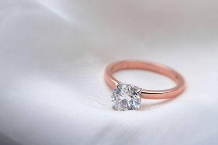 Pink Gold Diamond Ring