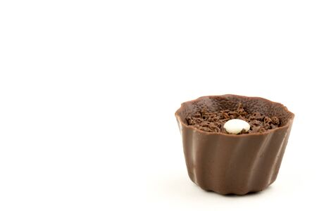 Belgian Chocolate Candy on White Background