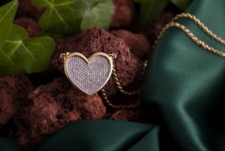 Gold Heart Pendant Necklace