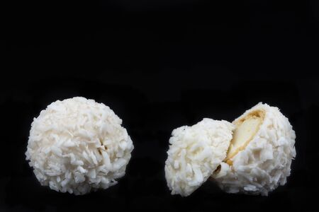 White Candies With Coconut Topping