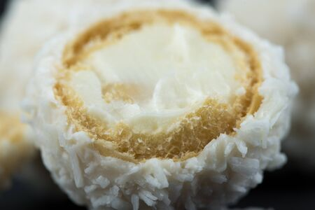 White Candy With Coconut Topping