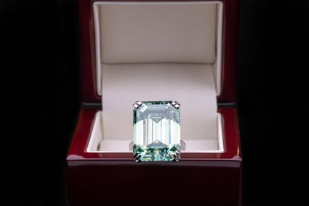 Big Carat Diamond Ring in Jewelry Box