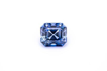 Sapphire Gemstone on White Background Standard-Bild