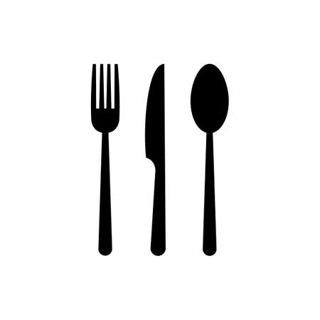 spoon and fork icon. spoon, fork and knife icon vector. restaurant sign and symbol