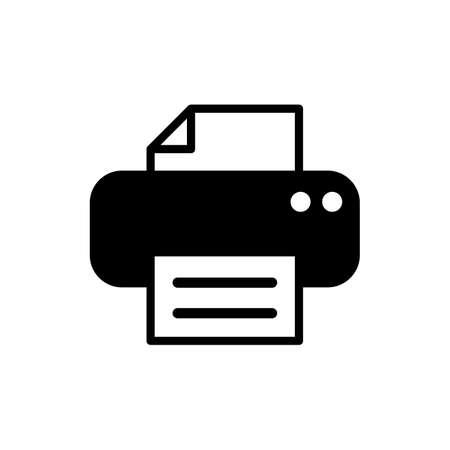 Printer icon. print icon. Printer vector icon Vektoros illusztráció