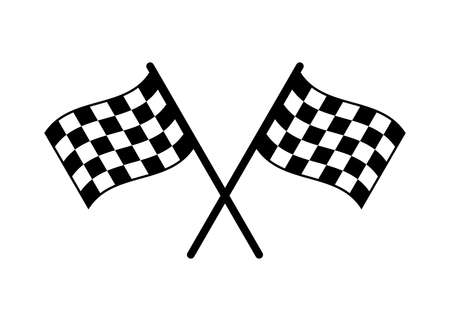 Start icon. Race flag icon. Competition sport flag line vector icon. Racing flag. Start finish flag Vektorgrafik