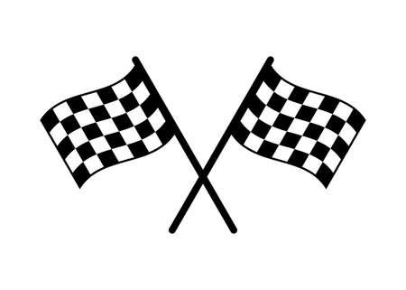 Start icon. Race flag icon. Competition sport flag line vector icon. Racing flag. Start finish flag Векторная Иллюстрация