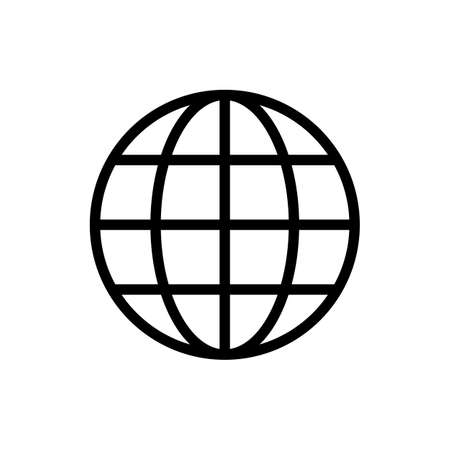 Web icon. Website vector icon. Internet world vector Vektorové ilustrace