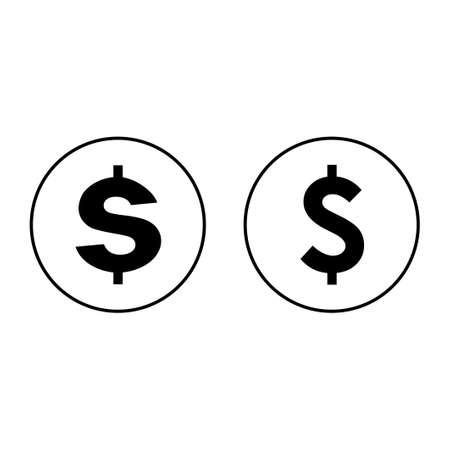 Money icon set isolated on white background. Money vector icon. Dollar icon