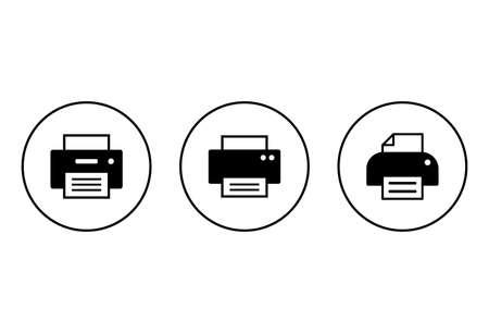 Printer icon set isolated on white background. print icon. Printer vector icon