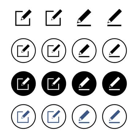 Edit icon set isolated on white background. Pencil icon. sign up Icon vector Vektorgrafik