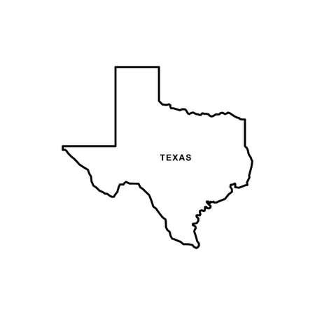 Texas map icon. Texas icon vector Vetores