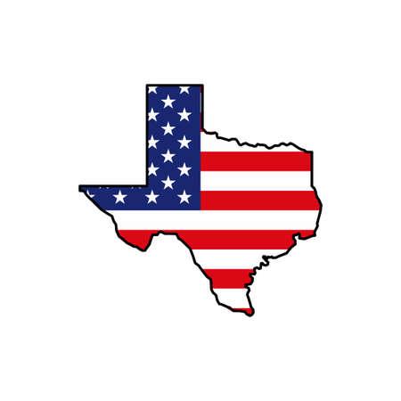 Texas map icon. Texas icon vector