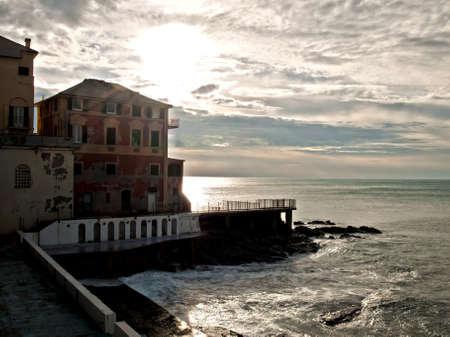 genoa: Genoa Boccadasse Stock Photo