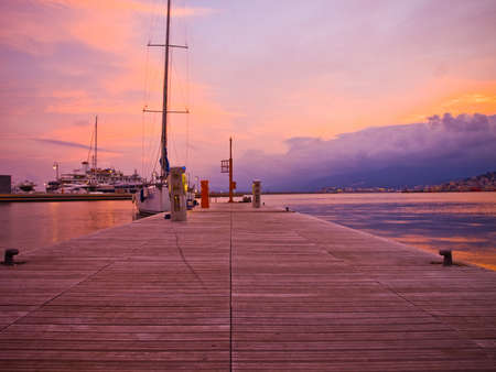 Port of Genoa Voltri at Sunset Stock Photo - 12267569