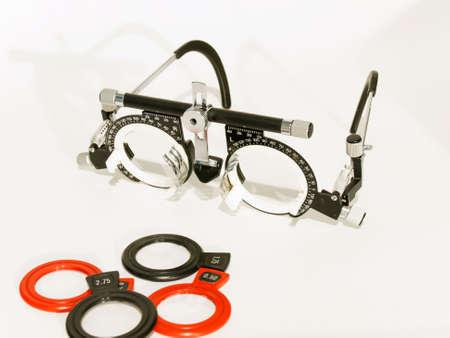 diastolic: eye test for measurement of vision Stock Photo