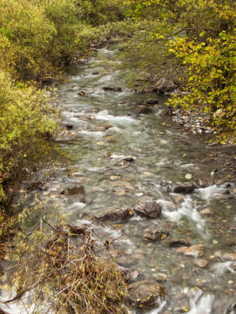 a river makes its way through the hills Stock Photo - 12207650