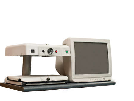 desktop video magnifier that allows autonomy in reading the visually impaired Stock Photo - 11996907