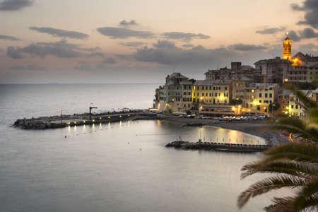 overview of Bogliasco,small village in Mediterranean sea, Italy Stock Photo - 14337818