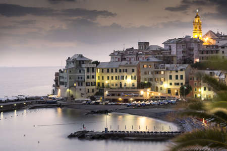 overview of Bogliasco,small village in Mediterranean sea, Italy Stock Photo - 14337819
