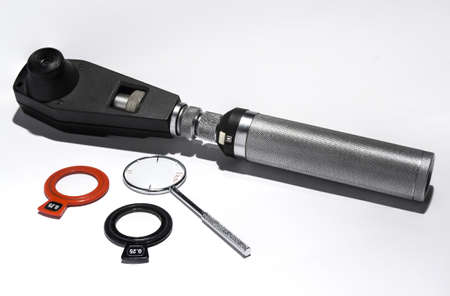 ophthalmic: retinoscope, cross cylinders and ophthalmic lenses